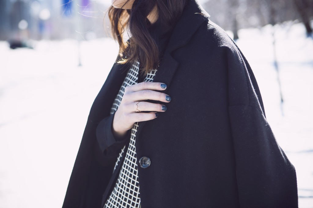 draped coat, blogger style
